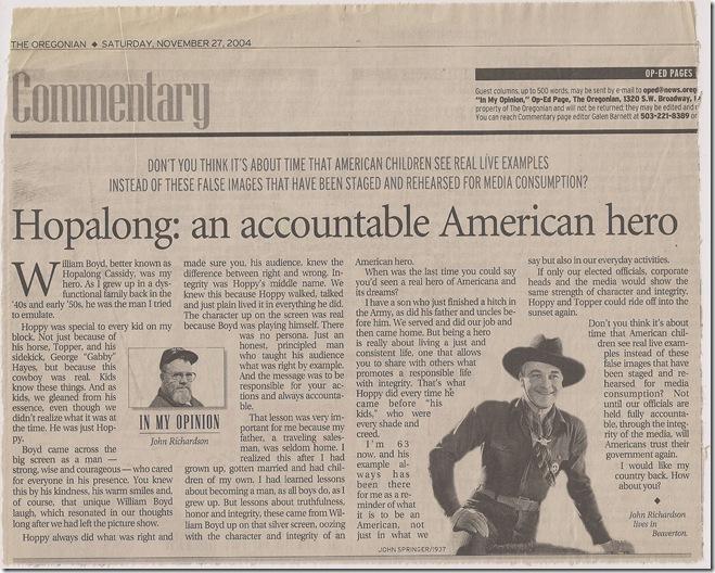 Hopalong Cassidy-American hero